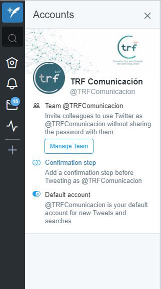 Gestionar más de una cuenta de Twitter con TweetDeck