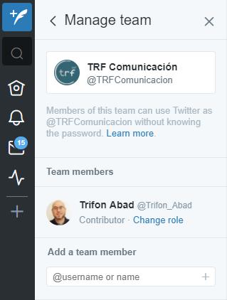 Gestionar varias cuentas de Twitter con TweetDeck