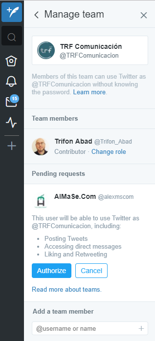 Gestionar diferentes cuentas de Twitter con TweetDeck